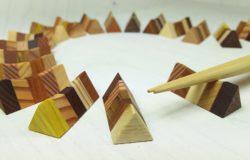 寄木の箸置き