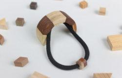 寄木のヘアカフス